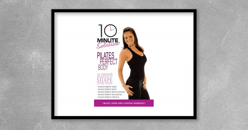 10 Minute Solution Pilates - Perfect Body by Suzanne Bowen at Kingzbook.com
