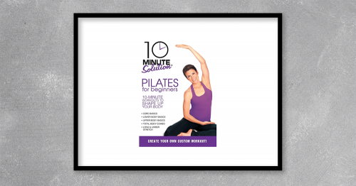 10 Minute Solution Pilates for Beginners 2010 by Lara Hudson at Kingzbook.com