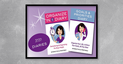 Organize In 5 Diary is an interactive diary with a5-minute decluttering, simplifying, or organizing taskfor every day of the year.