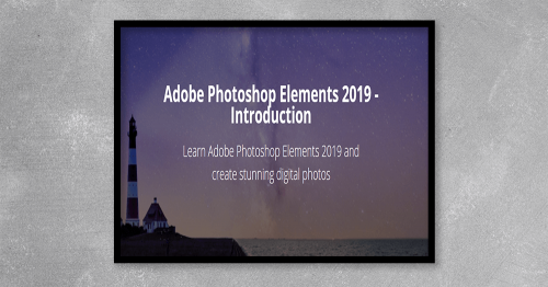 This course includes40 videos and over 5 hours of detailed tutorials. It will give you an excellent grounding in Photoshop Elements 2019 edition.