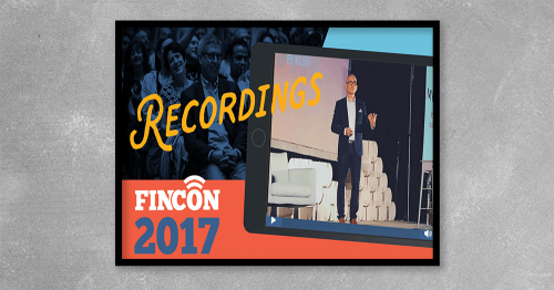The #FinCon17 Virtual Pass includes live recordings of the 90+ sessions presented at FinCon 2017, including Keynote Presentations, Big Idea Talks, and Breakout Sessions. As a Virtual Pass holder, you have lifetime access to all of the content, and you may revisit it as often as you like.