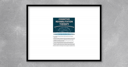 Cognitive Rehabilitation Therapy Practical Interventions & Personalized Planning from Jane Yakel at Kingzbook.com