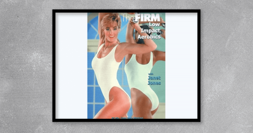 """A """"classic"""" aero/tone Firm workout. Released in 1988, it's the second video in the original series. Led by Janet Jones-Gretzky, this has a slightly """"dancier"""" feel than the first """"Body Sculpting Basics"""" program. The workout begins with a choreographed """"cardio"""" segment that uses light dumbbells to boost the intensity (while adding a definite toning element). The moves are primarily low-impact, but they also incorporate some higher-impact routines. The toning section is mostly floorwork — a well-sequenced medley of traditional exercises including push-ups, leg lifts, hydrants and abdominal curls. Like all the original Firms, you get jazz-style music, an elegant set and high quality production. Requires two sets of dumbbells (e.g. 3 & 10 lb); ankle weights are optional. ©1988 (re-released on DVD in 2012, FULLY CHAPTERED)."""